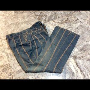 Z Cavaricci Tan Double-Striped Blue Jeans (14)